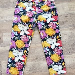 Anthropologie elevenses Tropica Cropped Pants 8